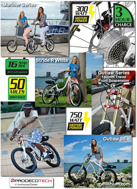 Prodeco electric assist bikes - Click here for full details...